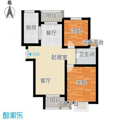 清谷93.00㎡竹园1号楼C户型