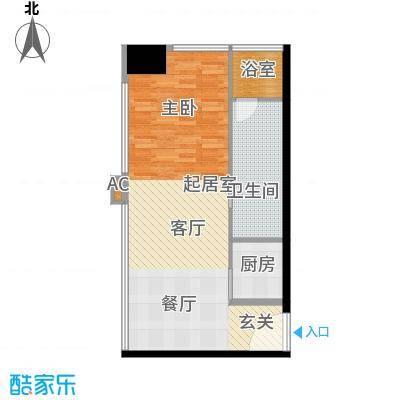 瑞湾国际汇馆82.18㎡1号楼标准层a4户型