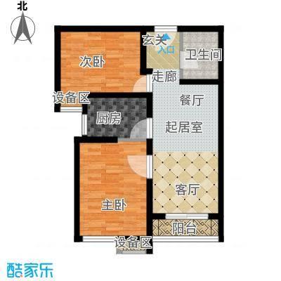 温莎公寓83.00㎡D面积8300m户型