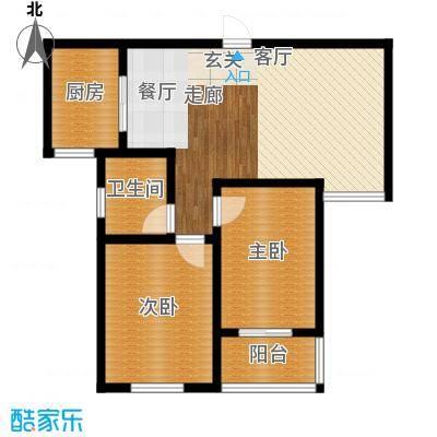 鼎正庆化苑85.46㎡面积8546m户型