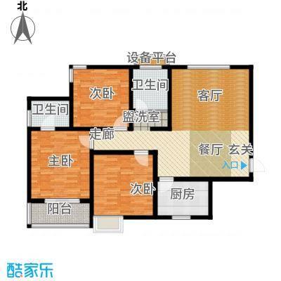 鼎正庆化苑116.47㎡面积11647m户型