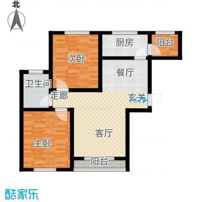 鼎正庆化苑84.43㎡面积8443m户型