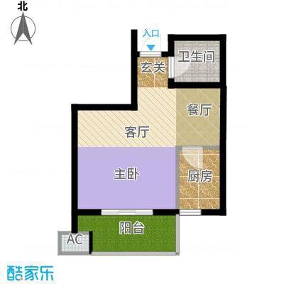 鼎新公寓50.00㎡面积5000m户型