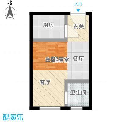 鸿港国际公寓40.00㎡面积4000m户型