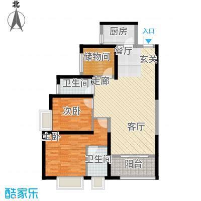 翡丽城108.04㎡2#1单元4楼3号3室面积10804m户型