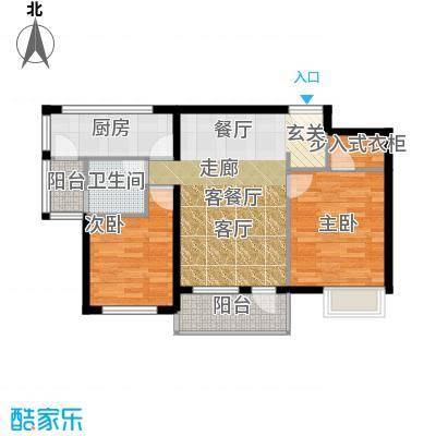 中泰嘉苑86.00㎡面积8600m户型
