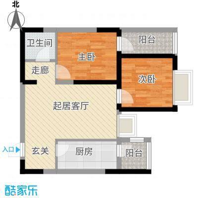 翡丽城73.79㎡3#1单元11楼2号2面积7379m户型