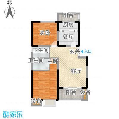 翡丽城100.78㎡2#2单元1楼1号2室面积10078m户型