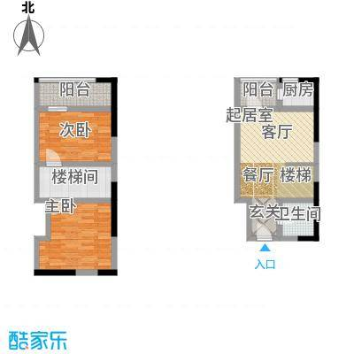 广天国际公寓43.19㎡B1面积4319m户型