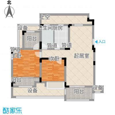 心泊馨城101.61㎡一期4-11号楼标准层s5户型