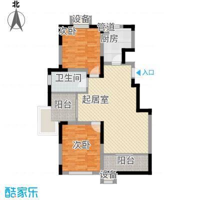 心泊馨城100.93㎡一期2、3号楼标准层h3户型