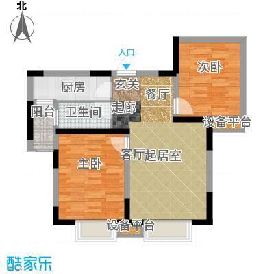 贻成豪庭91.00㎡高层标准层B2户型