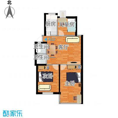 87.12㎡户型3室1厅1卫