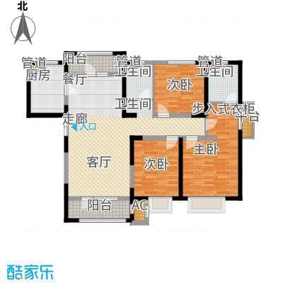 天安珑园153.00㎡一期高层标准层B户型