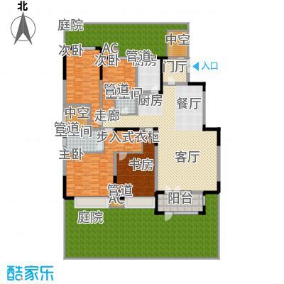 天安珑园209.00㎡一期洋房56-58-59-65-66号楼标准层c1户型
