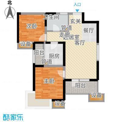 天津湾海景文苑99.00㎡高层标准层C2户型