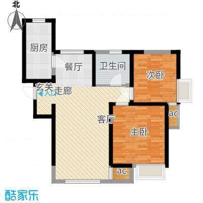 南益名士华庭93.95㎡三期高层1号楼A3户型
