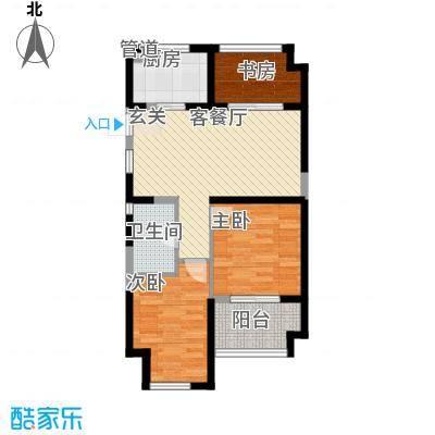 金都夏宫87.00㎡高层公寓荷苑B3户型