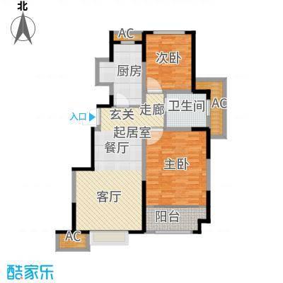 旭辉澜郡84.29㎡电梯洋房标准层L3户型