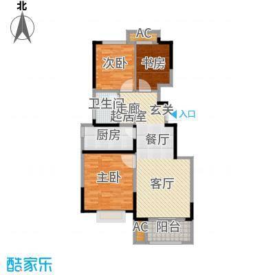旭辉澜郡90.08㎡电梯洋房标准层A4户型