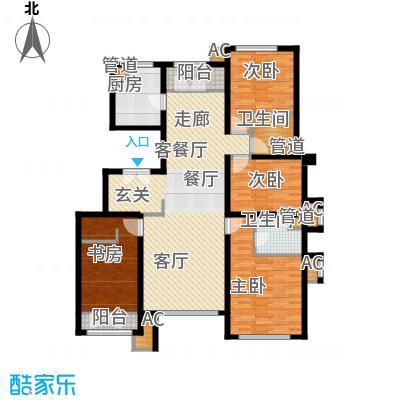 亿城堂庭149.02㎡一期电梯洋房18号楼标准层S户型