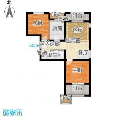 亿城堂庭91.18㎡三期20号楼标准层N户型