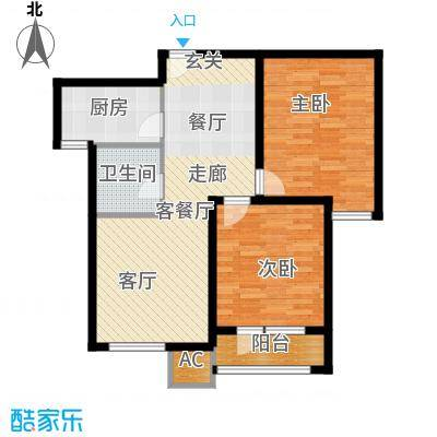 亿城堂庭89.29㎡三期19号楼标准层P户型