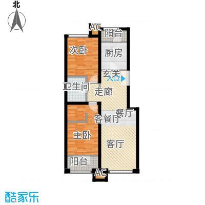 亿城堂庭96.49㎡一期电梯洋房18号楼标准层R户型