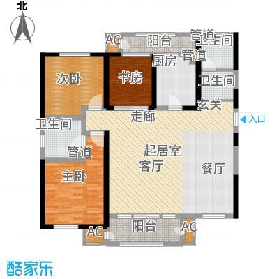 意境兰庭148.00㎡高层标准层C3户型