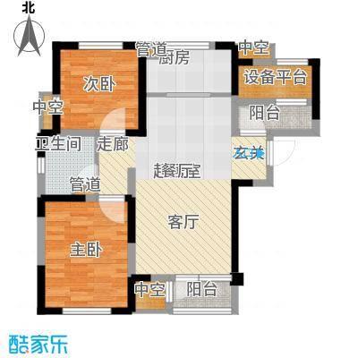 联发第五街92.17㎡一期高层5号楼标准层01户型