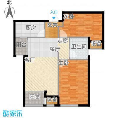 天津诺德中心94.00㎡高层7号楼标准层D1户型