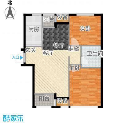 天津诺德中心93.00㎡高层7号楼标准层E户型