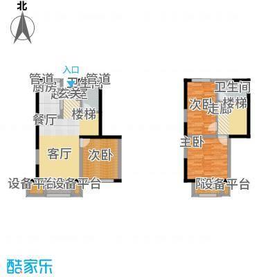 天山龍玺106.00㎡天山�玺一期阳光墅G1户型