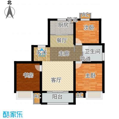 雍鑫红星华府107.00㎡情景洋房标准层A1户型