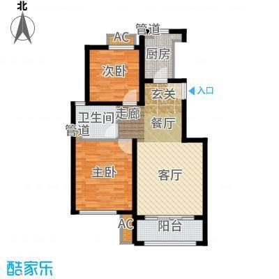 雍鑫红星华府87.00㎡情景洋房标准层B户型