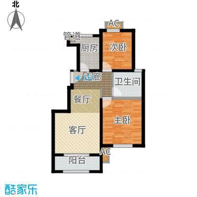 雍鑫红星华府86.00㎡情景洋房标准层F户型