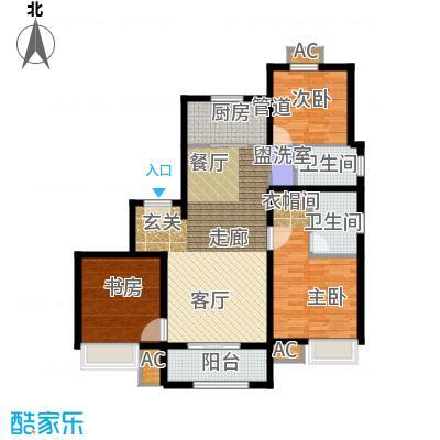 雍鑫红星华府121.00㎡情景洋房标准层A2户型