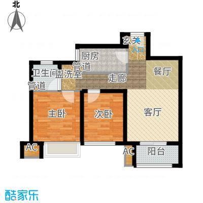 雍鑫红星华府86.00㎡瞰景高层标准层C1户型