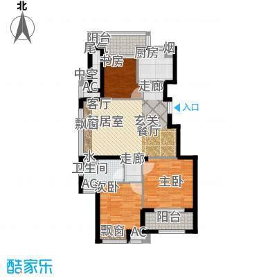 良渚文化村七贤郡90.00㎡二期B4户型