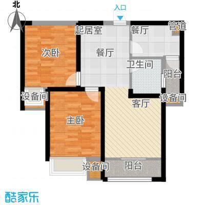 中铁诺德名苑88.00㎡高层标准层A户型