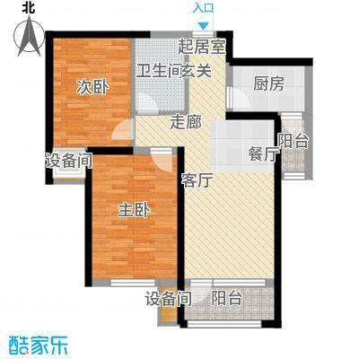 中铁诺德名苑89.00㎡小高层13号楼标准层E户型