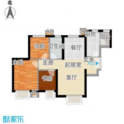 天津津南新城89.00㎡一期2、3、5、6、7号楼D1户型