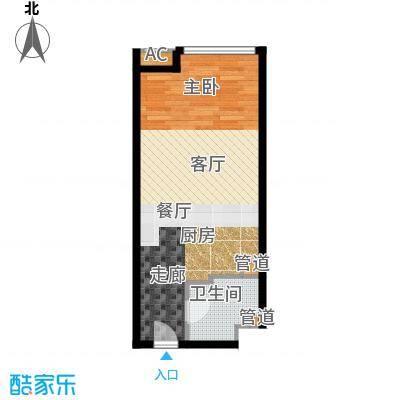 熙悦华府58.00㎡公寓标准层E户型