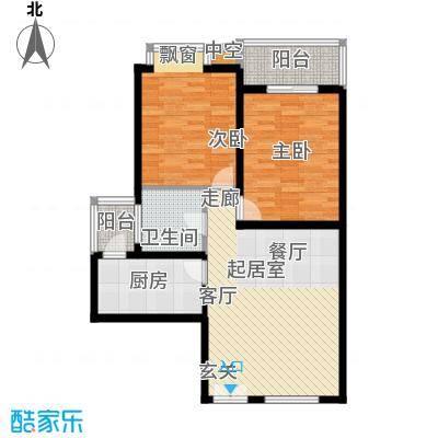 汇鑫花园94.27㎡2号楼D面积9427m户型