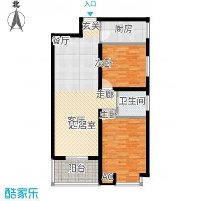 汇鑫花园93.82㎡2号楼C面积9382m户型