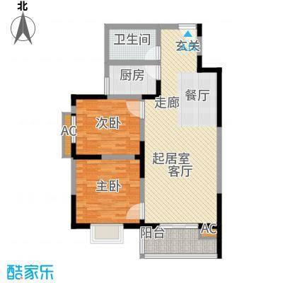 汇鑫花园87.61㎡1单元102#2室2面积8761m户型