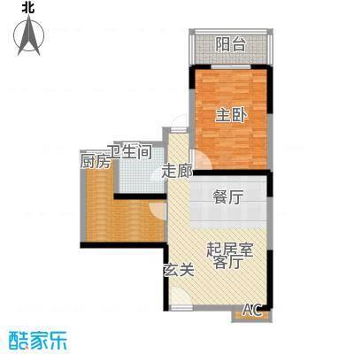 汇鑫花园78.35㎡1单元1403#1室面积7835m户型