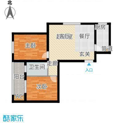 汇鑫花园92.27㎡1号楼A面积9227m户型