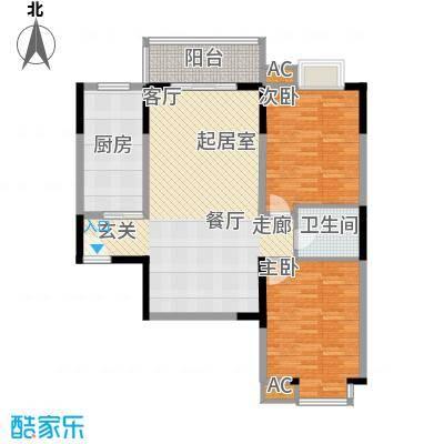 汇鑫花园104.47㎡2单元4#2室面积10447m户型