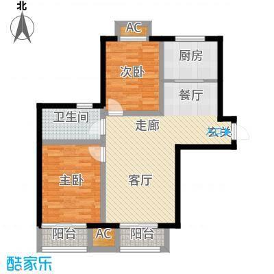 富贵嘉园95.00㎡高层标准层A0104B01户型